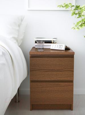 Прикроватная тумба Ikea Мальм 403.152.82 (коричневая морилка/ясеневый шпон)