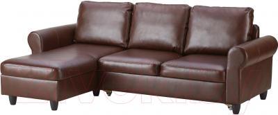 Угловой диван-кровать Ikea Фиксхульт 102.763.00 (темно-коричневый)