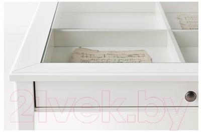 Журнальный столик Ikea Лиаторп 500.870.72 (белый, стекло)