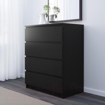 Комод Ikea Мальм 501.033.45 (черно-коричневый)