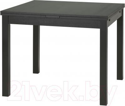 Обеденный стол Ikea Бьюрста 501.168.09 (коричнево-черный)