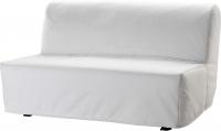 Чехол на диван - 2 местный Ikea Ликселе 501.195.44 (белый) -
