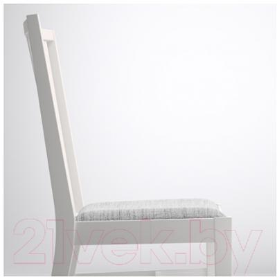 Стул Ikea Норнэс 501.853.03 (белый/серый)