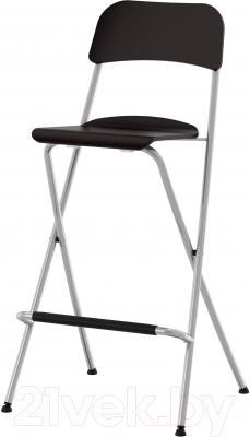 Стул Ikea Франклин 501.992.15 (коричнево-черный/серебристый)