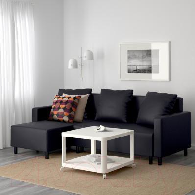 Угловой диван-кровать Ikea Лугнвик 502.084.94 (черный) - в интерьере