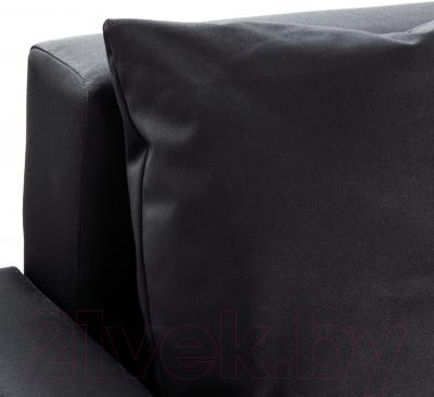 Угловой диван-кровать Ikea Лугнвик 502.084.94 (черный)