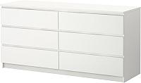 Комод Ikea Мальм 502.145.55 (белый) -