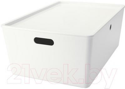 Ящик для хранения Ikea Куггис 102.802.03 (белый)