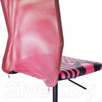 Кресло офисное Ikea Турбьерн 502.179.07 (розовый) - вид сзади