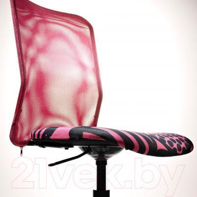 Кресло офисное Ikea Турбьерн 502.179.07 (розовый) - вид спереди