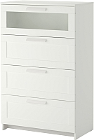 Комод Ikea Бримнэс 502.180.25 (белый, матовое стекло) -