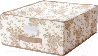 Ящик для хранения Ikea Гарнитур 502.262.71 (бежевый/белый цветок)