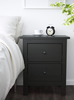 Прикроватная тумба Ikea Хемнэс 502.426.19 (черный/коричневый)