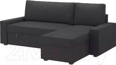 Чехол на угловой диван Ikea Виласунд 502.430.82 (темно-серый)