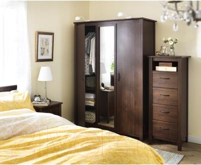Комод Ikea Брусали 502.527.45 (коричневый)