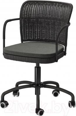 Кресло офисное Ikea Грегор 502.604.58 (черный/серый)