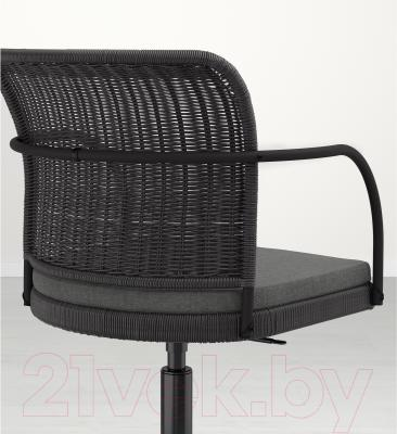 Кресло офисное Ikea Грегор 502.604.58 (черный/серый) - вид сзади