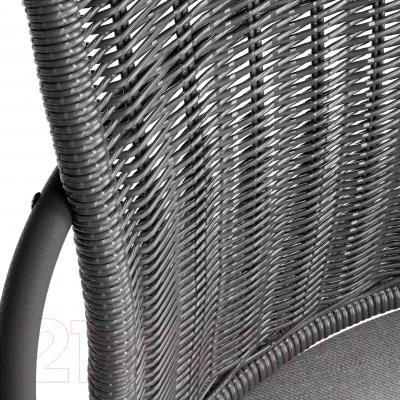 Кресло офисное Ikea Грегор 502.604.58 (черный/серый) - спинка из бумаги, покрытой лаком