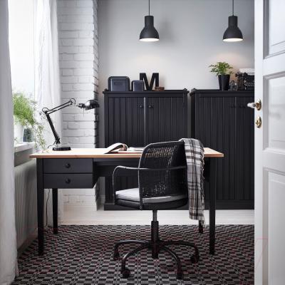 Кресло офисное Ikea Грегор 502.604.58 (черный/серый) - в интерьере