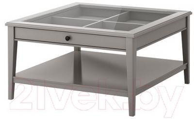 Журнальный столик Ikea Лиаторп 502.693.69 (серый, стекло)