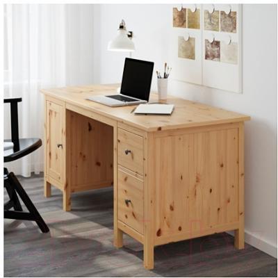 Письменный стол Ikea Хемнэс 502.821.44 (светло-коричневый)