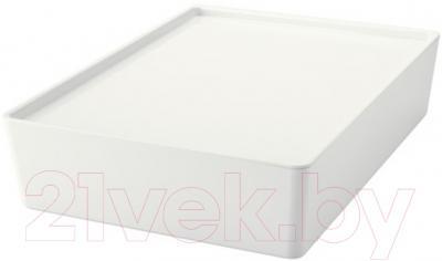 Ящик для хранения Ikea Куггис 502.823.04 (белый)