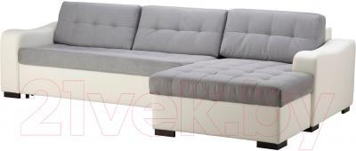 Угловой диван-кровать Ikea Лиарум 503.003.36 (серый/белый)