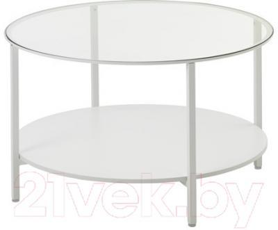 Журнальный столик Ikea Витше 503.034.48 (белый, стекло)
