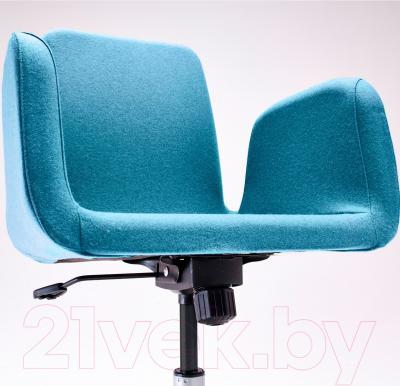 Кресло офисное Ikea Патрик 102.870.73 (синий) - вид спереди