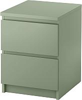 Прикроватная тумба Ikea Мальм 503.113.11 (светло-зеленый) -