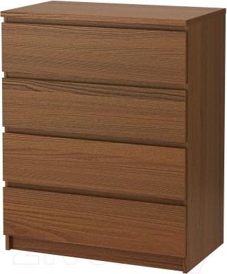 Комод Ikea Мальм 503.152.86 (коричневая морилка/ясеневый шпон)