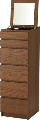 Комод Ikea Мальм 503.152.91 (коричневая морилка/ясеневый шпон)