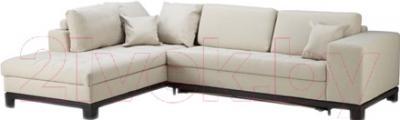 Угловой диван-кровать Ikea Ногерсунд 503.157.57 (бежевый, левый)