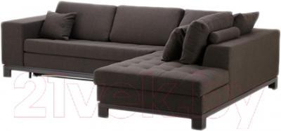 Угловой диван-кровать Ikea Ногерсунд 503.157.62 (темно-коричневый)
