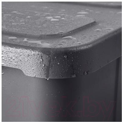 Контейнер для хранения Ikea Клэмтаре 102.923.62 (темно-серый)