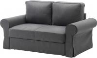 Чехол на диван - 2 местный Ikea Баккабру 503.232.34 (темно-серый) -