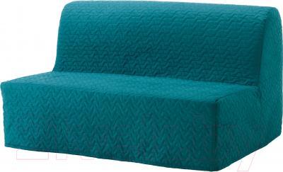 Чехол на диван - 2 местный Ikea Ликселе 503.234.08 (бирюзовый)