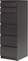 Комод Ikea Мальм 601.279.73 (черно-коричневый) -