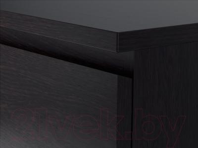 Комод Ikea Мальм 601.279.73 (черно-коричневый)