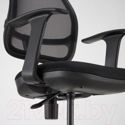 Кресло офисное Ikea Одфин 601.361.66 (черный) - вид спереди