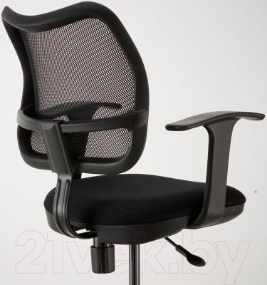 Кресло офисное Ikea Одфин 601.361.66 (черный) - вид сзади