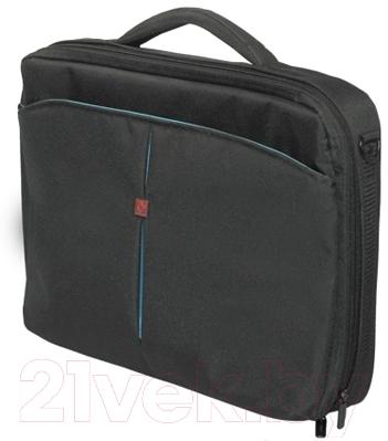 Сумка для ноутбука Continent CC-02 (черный/голубой)