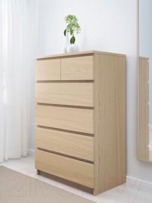 Комод Ikea Мальм 601.786.13 (дубовый шпон, беленый)