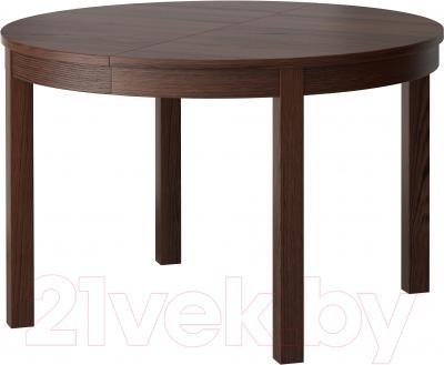 Обеденный стол Ikea Бьюрста 601.823.04 (коричневый)