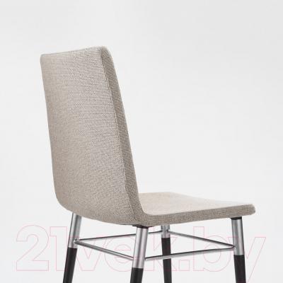Стул Ikea Пребен 602.013.31 (коричнево-черный/светло-серый)