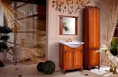 Зеркало для ванной Bliss Баккара 0453.2 (орех эко) - в интерьере