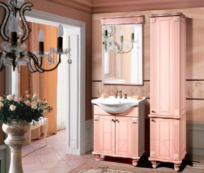 Шкаф-пенал для ванной Bliss Баккара 0453.4 (дуб молочный) - в интерьере