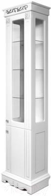 Шкаф-пенал для ванной Bliss Амелия 2Д 0455.3 (серебристый)