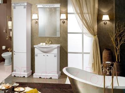 Шкаф-пенал для ванной Bliss Амелия-1 2Д 0455.4 (серебристый) - в интерьере