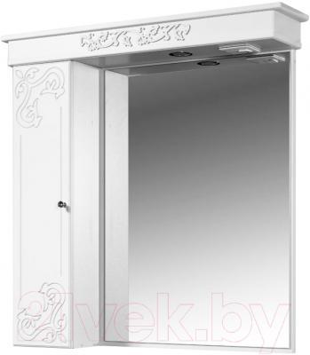 Шкаф с зеркалом для ванной Bliss Амелия 2 0455.8 (серебристый)